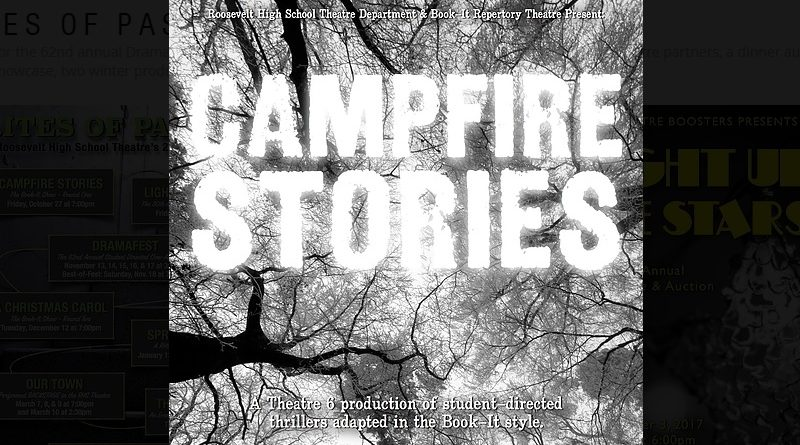 """Roosevelt High School Presents """"Campfire Stories"""" with Book-It Theatre — Friday, Oct. 27"""