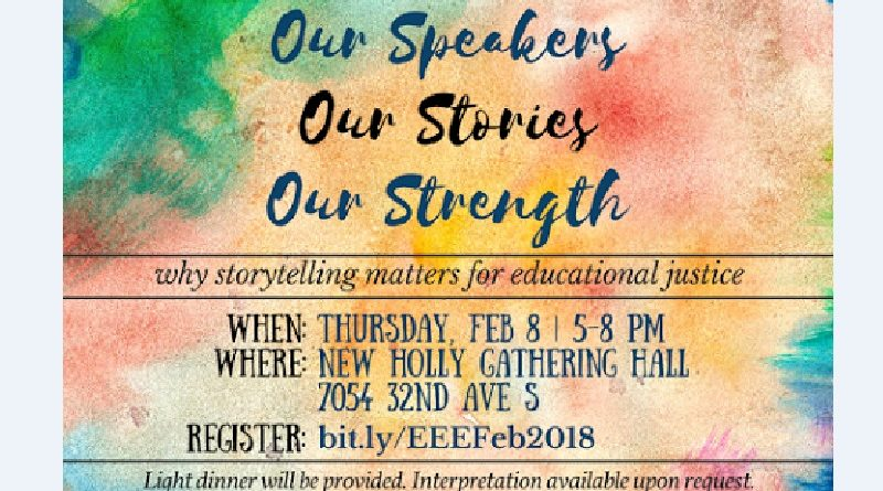 Our Speakers, Our Stories, Our Strength: Community Speakers on Educational Justice — Thursday, Feb. 8