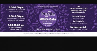 ONE MORE VOLUNTEER Needed for the Purple & White Gala!